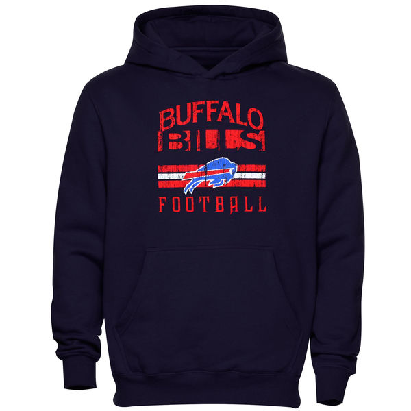 Men Buffalo Bills Pregame Pullover Hoodie Navy Blue