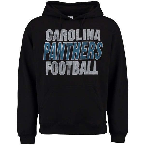 Men Carolina Panthers Junk Food Kickoff Pullover Hoodie Black