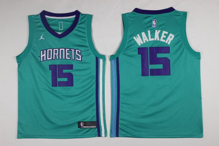Men Charlotte Hornets 15 Kemba Walker Green Swingman Edition NBA Jersey