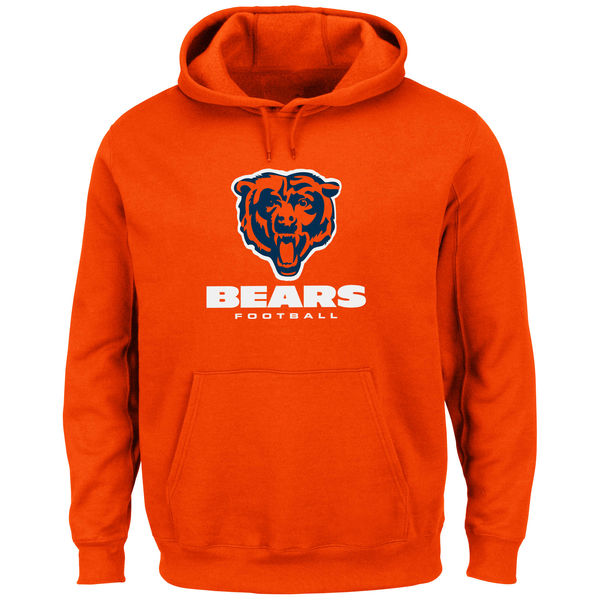 Men Chicago Bears Critical Victory Pullover Hoodie Orange