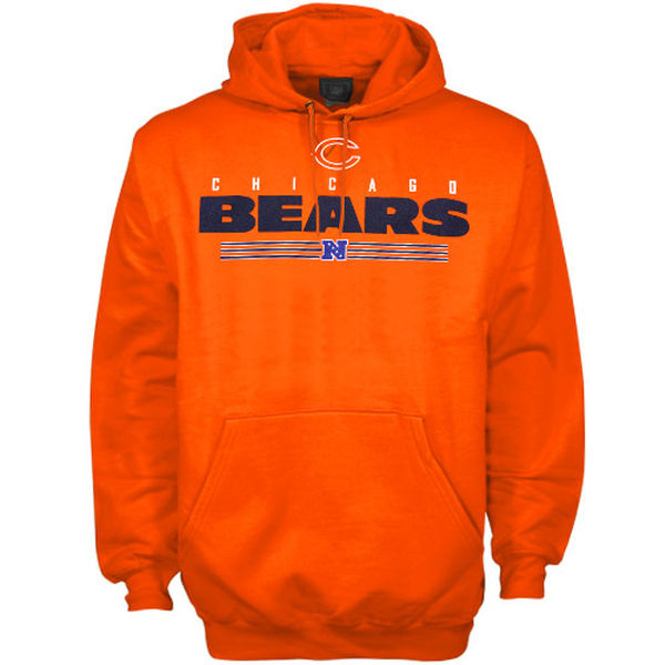 Men Chicago Bears Critical Victory VI Hoodie Orange