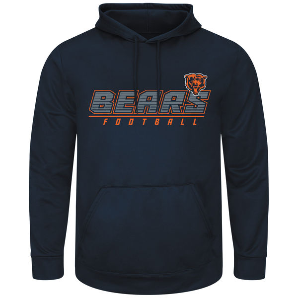 Men Chicago Bears Majestic Punt Return Pullover Hoodie Navy