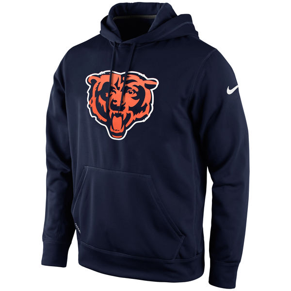 Men Chicago Bears Nike KO Logo Essential Hoodie Navy Blue