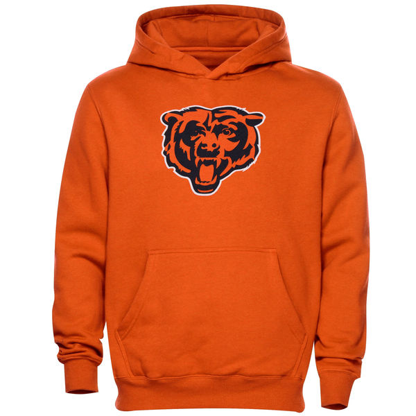 Men Chicago Bears Toddler Team Logo Fleece Pullover Hoodie Orange