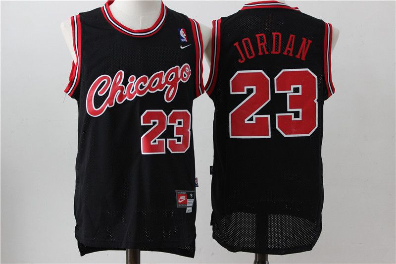 Men Chicago Bulls 23 Jordan Black Nike NBA Jerseys