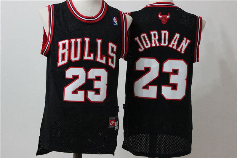Men Chicago Bulls 23 Jordan Black white NBA Jerseys
