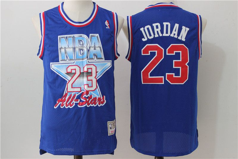 Men Chicago Bulls 23 Jordan Blue 93 All star NBA Jerseys