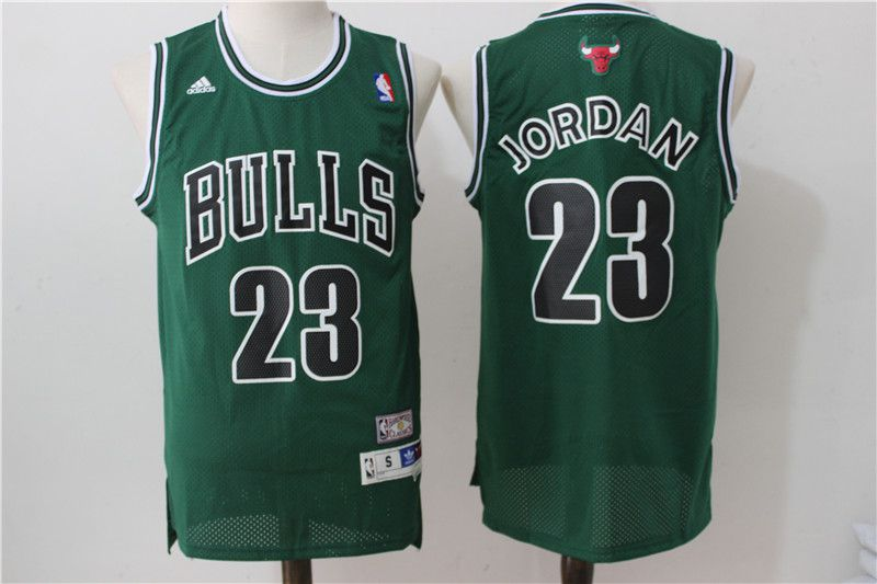 Men Chicago Bulls 23 Jordan Green Adidas NBA Jersey
