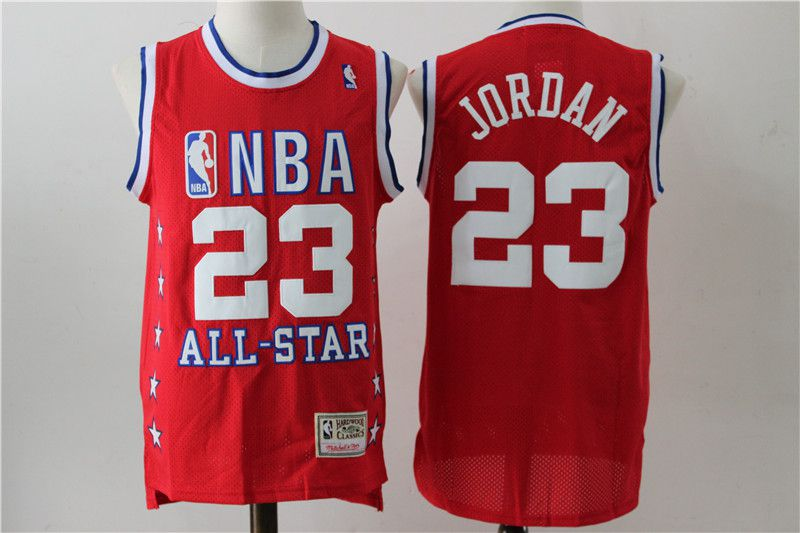Men Chicago Bulls 23 Jordan Red All star NBA Jerseys