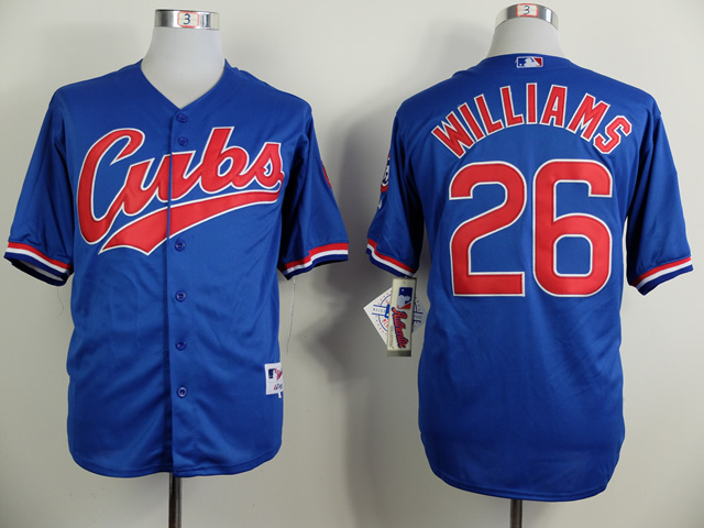 Men Chicago Cubs 26 Williams Blue Throwback 1994 MLB Jerseys
