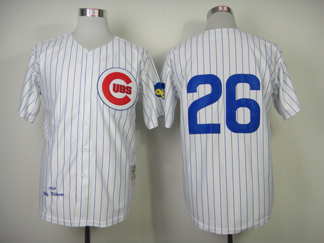 Men Chicago Cubs 26 Williams White Throwback 1969 MLB Jerseys