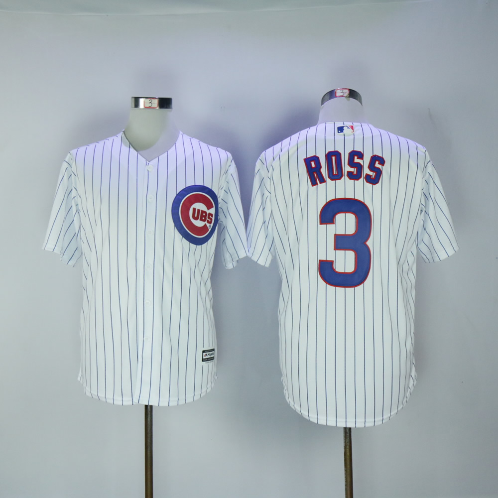 Men Chicago Cubs 3 Ross White MLB Jerseys