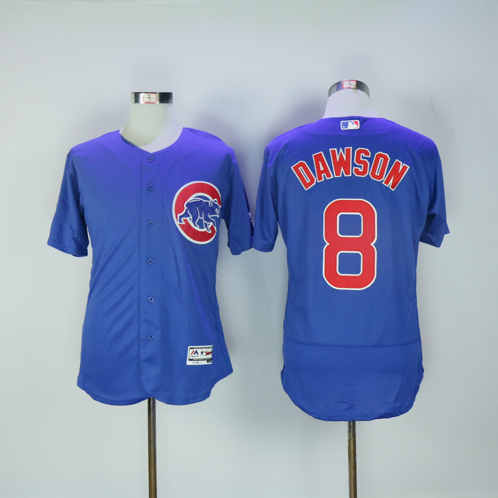Men Chicago Cubs 8 Dawson Blue MLB Jerseys