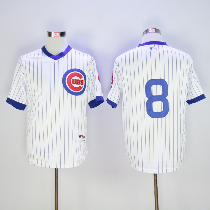 Men Chicago Cubs 8 Dawson White Throwback 1988 MLB Jerseys