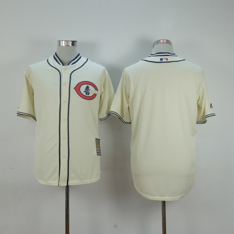 Men Chicago Cubs Blank Cream Throwback 1929 MLB Jerseys