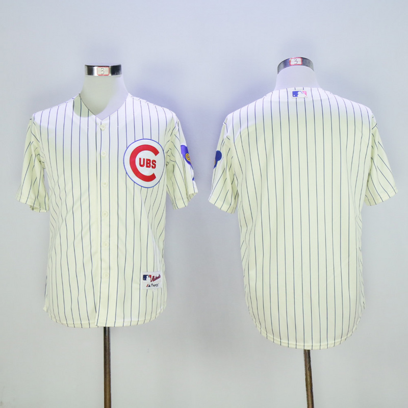 Men Chicago Cubs Blank Cream Throwback 1969 MLB Jerseys