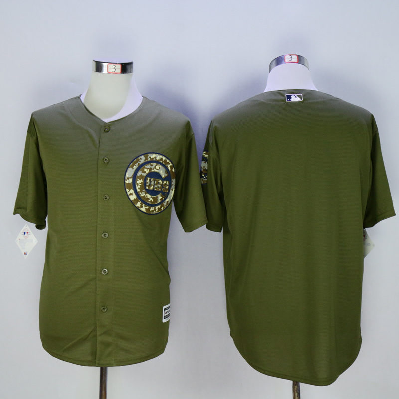 Men Chicago Cubs Blank Green MLB Jerseys