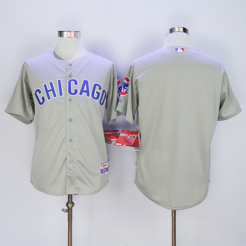 Men Chicago Cubs Blank Grey Chicago Edition MLB Jerseys