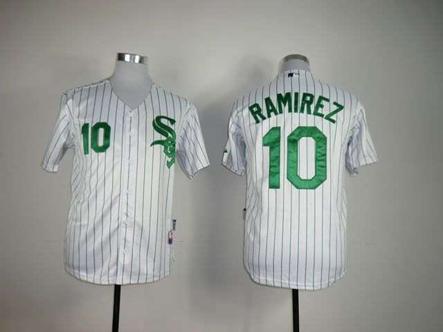 Men Chicago White Sox 10 Ramirez White MLB Jerseys