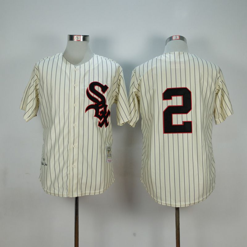 Men Chicago White Sox 2 Fox Cream Throwback 1959 MLB Jerseys