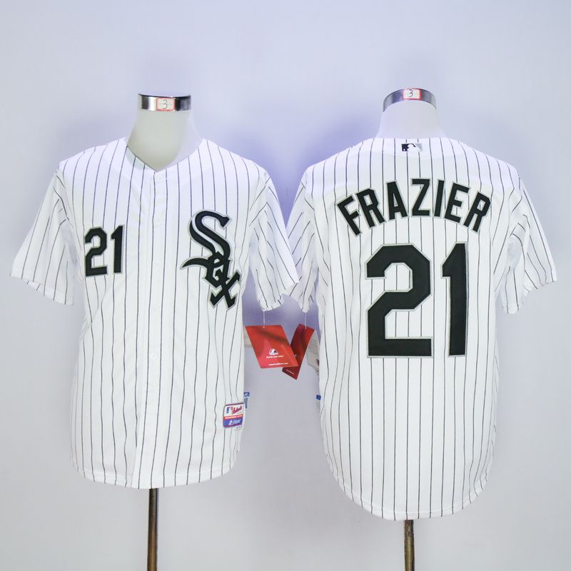 Men Chicago White Sox 21 Frazier White MLB Jerseys