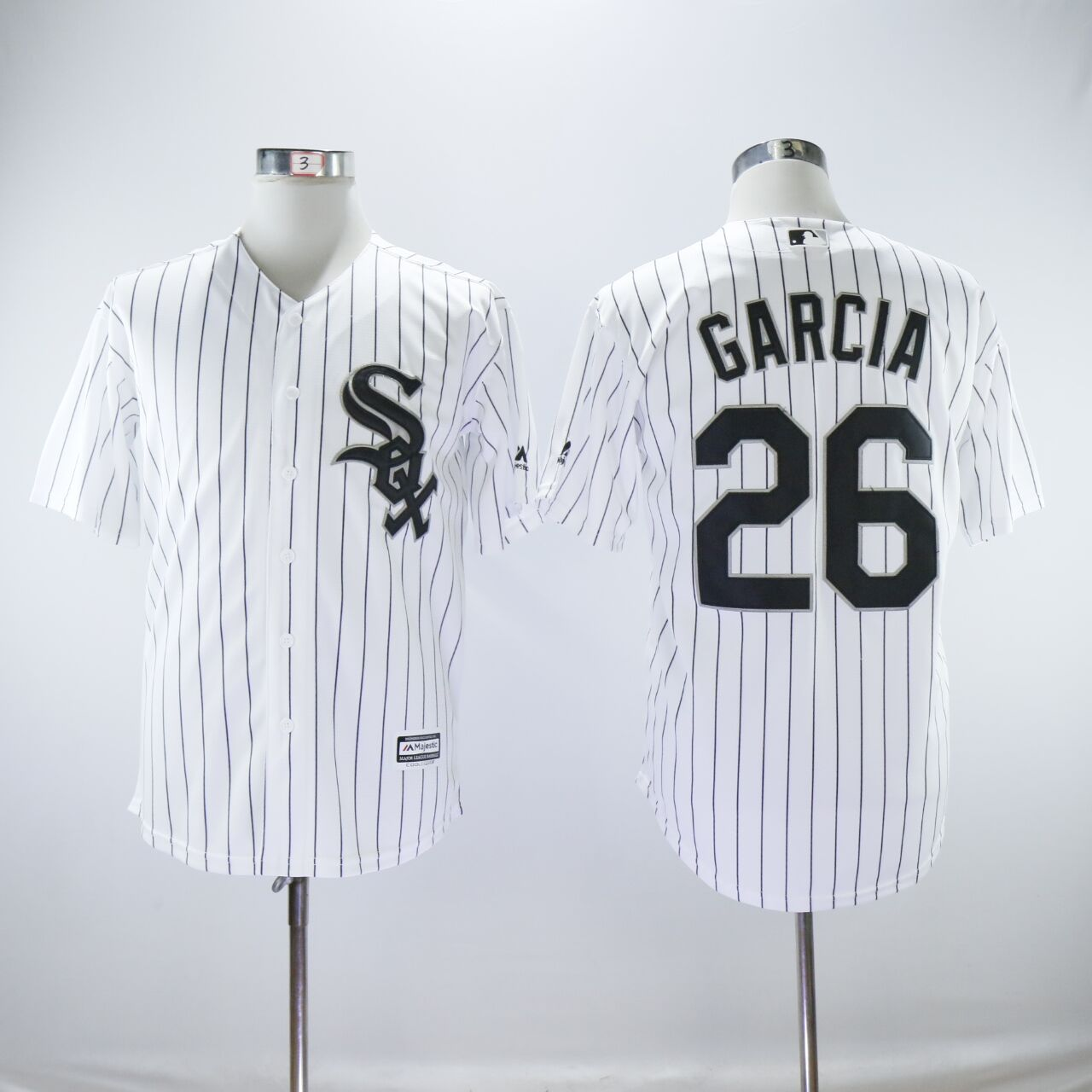 Men Chicago White Sox 26 Garcia White MLB Jerseys