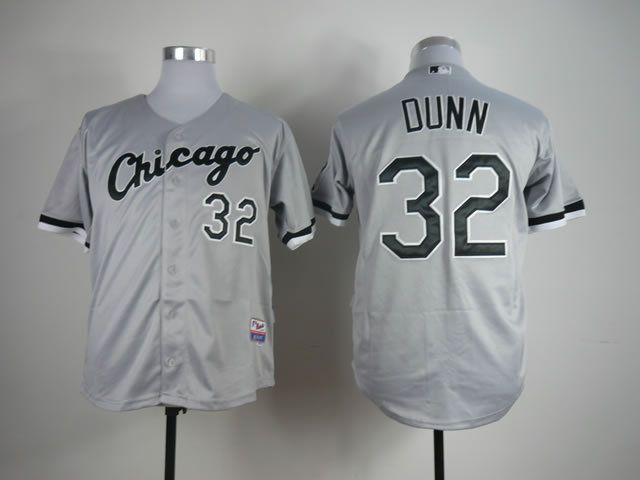 Men Chicago White Sox 32 Dunn Grey MLB Jerseys