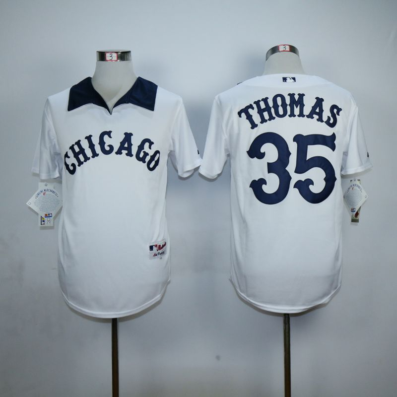 Men Chicago White Sox 35 Thomas White MLB Jerseys