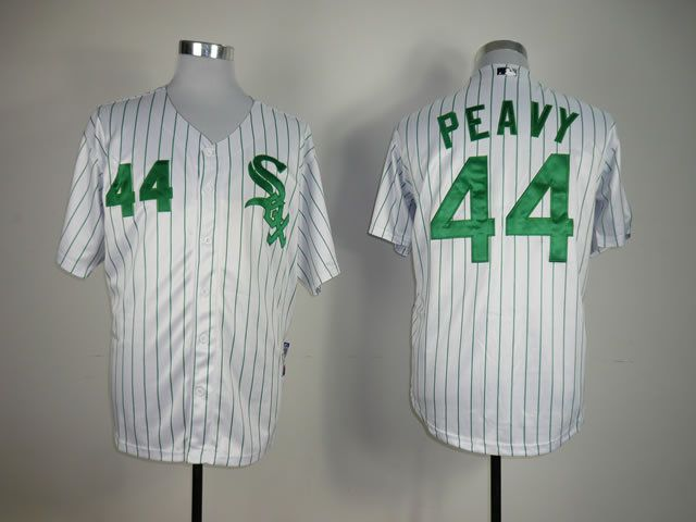 Men Chicago White Sox 44 Peavy White MLB Jerseys