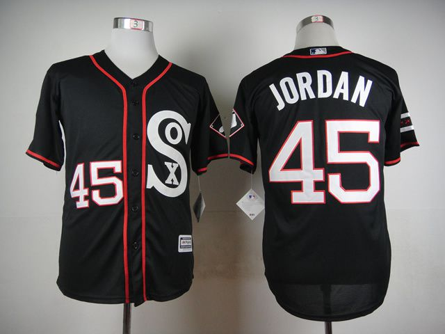 Men Chicago White Sox 45 Jordan Black MLB Jerseys