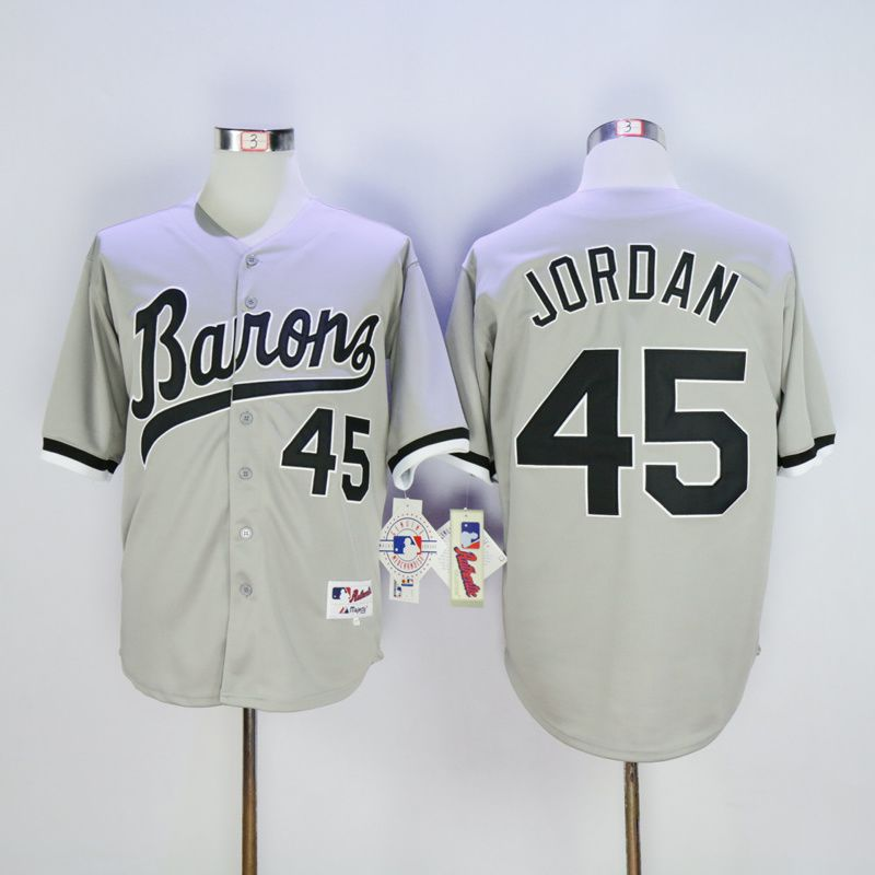 Men Chicago White Sox 45 Jordan Grey MLB Jerseys1