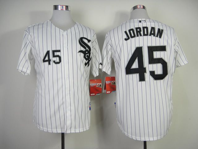 Men Chicago White Sox 45 Jordan White MLB Jerseys