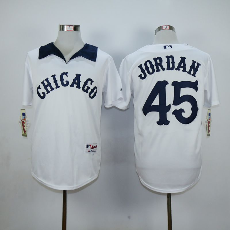 Men Chicago White Sox 45 Jordan White MLB Jerseys2