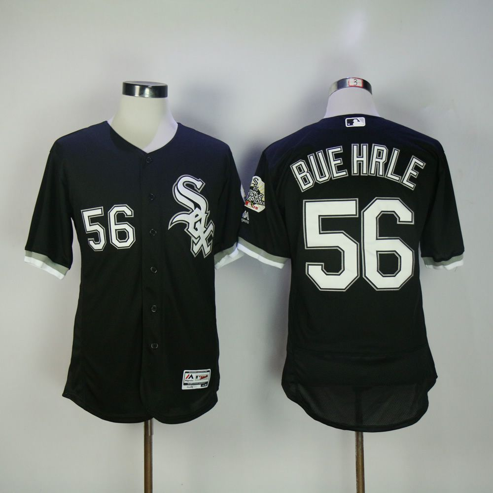 Men Chicago White Sox 56 Buehrle Black Elite MLB Jerseys