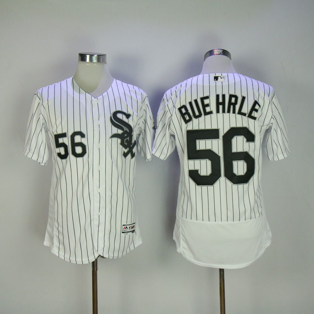Men Chicago White Sox 56 Buehrle White Elite MLB Jerseys
