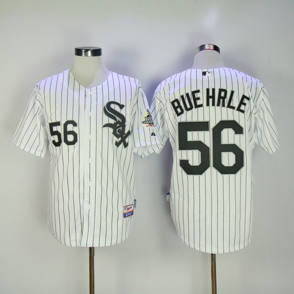 Men Chicago White Sox 56 Buehrle White MLB Jerseys
