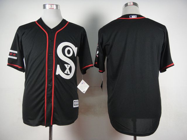 Men Chicago White Sox Blank Black MLB Jerseys
