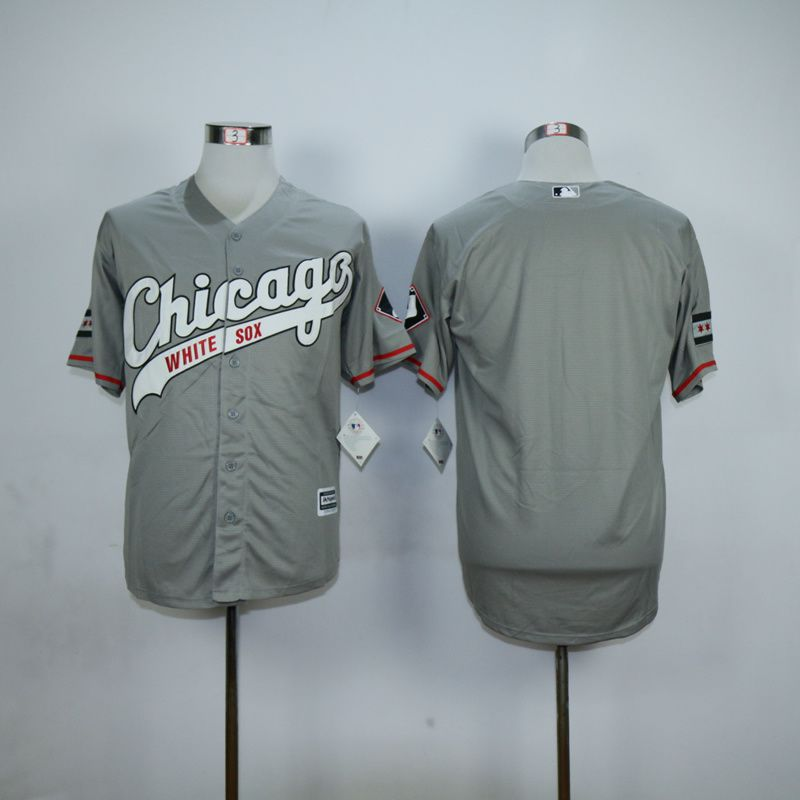 Men Chicago White Sox Blank Grey MLB Jerseys