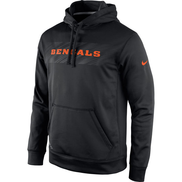 Men Cincinnati Bengals Nike KO Speed Wordmark Performance Hoodie Black