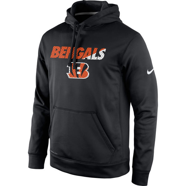 Men Cincinnati Bengals Nike Kick Off Staff Performance Pullover Hoodie Black