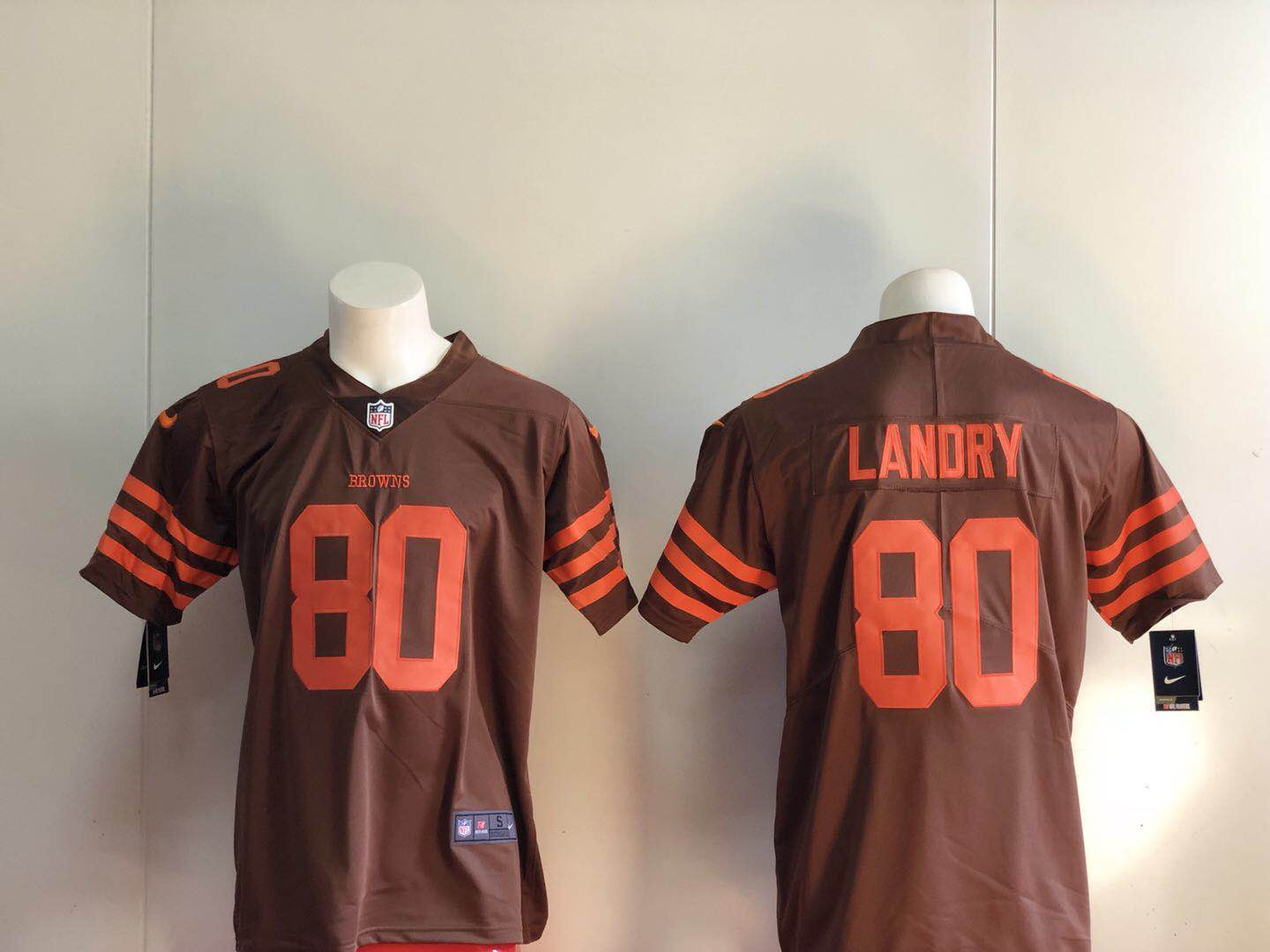 Men Cleveland Browns 80 Landry NFL Nike brown Limited jerseys