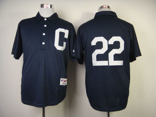 Men Cleveland Indians 22 Kipnis Blue 1902 MLB Jerseys