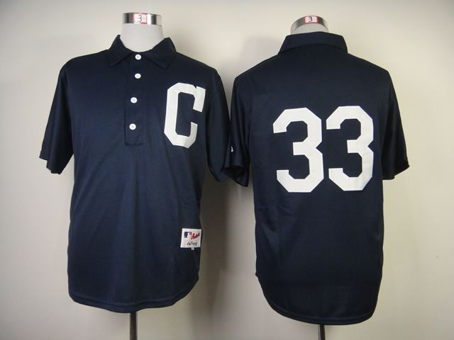 Men Cleveland Indians 33 Swisher Blue 1902 MLB Jerseys