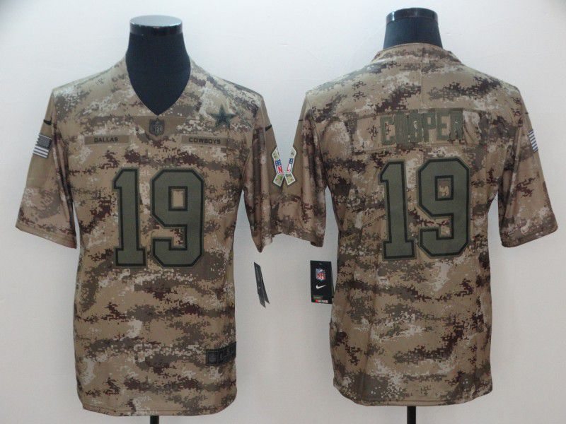 Men Dallas cowboys 19 Cooper Nike Camo Salute to Service Retired Player Limited NFL Jersey