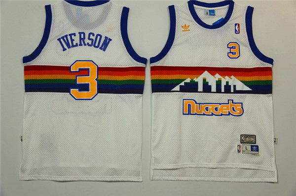 Men Denver Nuggets 3 Lawson White Adidas NBA Jerseys