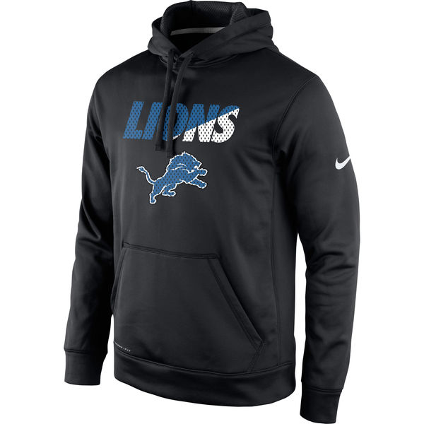 Men Detroit Lions Nike Kick Off Staff Performance Pullover Hoodie Black