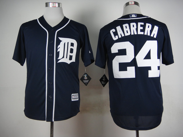 Men Detroit Tigers 24 Cabrera Blue MLB Jerseys
