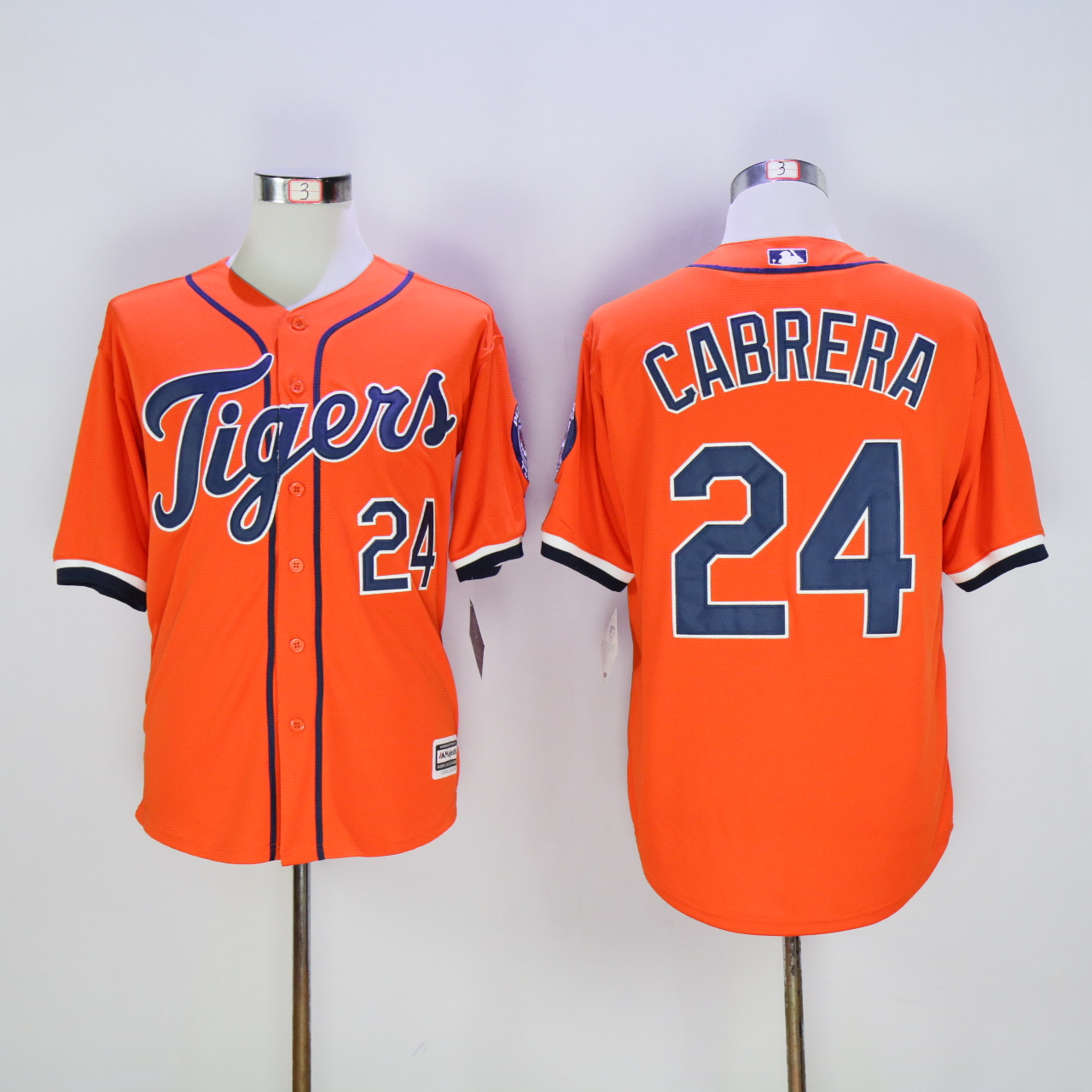 Men Detroit Tigers 24 Cabrera Orange MLB Jerseys