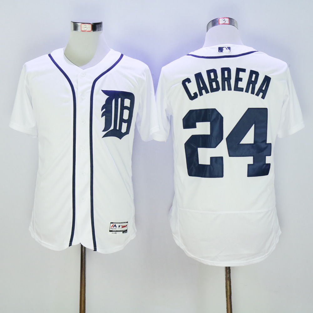 Men Detroit Tigers 24 Cabrera White MLB Jerseys