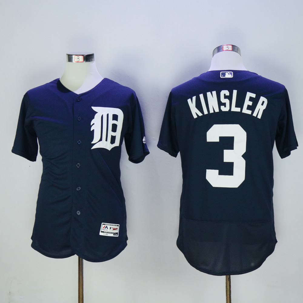 Men Detroit Tigers 3 Kinsler Blue MLB Jerseys